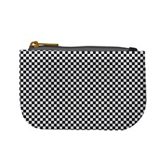 Sports Racing Chess Squares Black White Mini Coin Purses