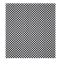Sports Racing Chess Squares Black White Shower Curtain 66  X 72  (large)