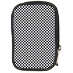 Sports Racing Chess Squares Black White Compact Camera Cases Front