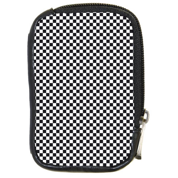 Sports Racing Chess Squares Black White Compact Camera Cases