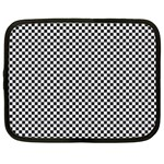 Sports Racing Chess Squares Black White Netbook Case (XL)  Front