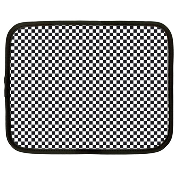 Sports Racing Chess Squares Black White Netbook Case (XL)