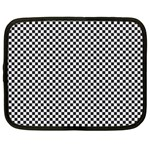 Sports Racing Chess Squares Black White Netbook Case (XXL)  Front