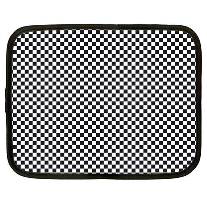 Sports Racing Chess Squares Black White Netbook Case (XXL)