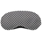 Sports Racing Chess Squares Black White Sleeping Masks Front