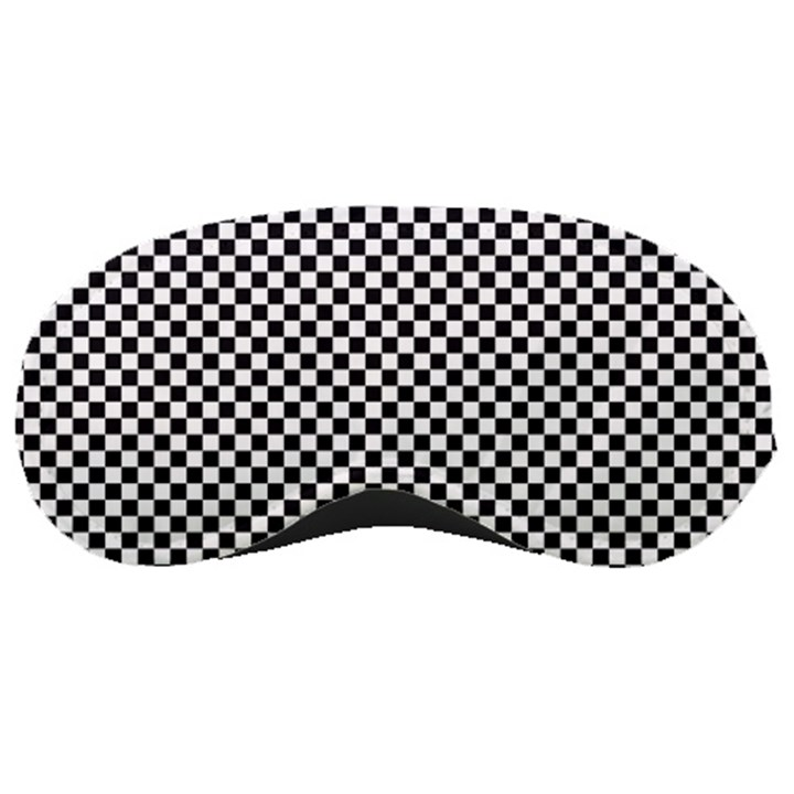 Sports Racing Chess Squares Black White Sleeping Masks