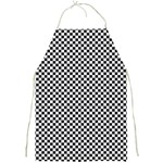 Sports Racing Chess Squares Black White Full Print Aprons Front