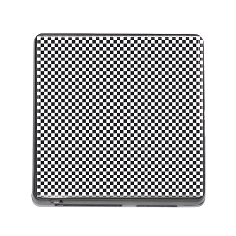 Sports Racing Chess Squares Black White Memory Card Reader (Square)