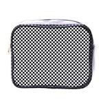 Sports Racing Chess Squares Black White Mini Toiletries Bags Front