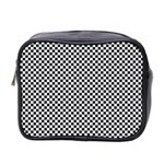 Sports Racing Chess Squares Black White Mini Toiletries Bag 2-Side Front