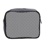 Sports Racing Chess Squares Black White Mini Toiletries Bag 2-Side Back