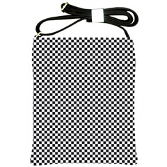 Sports Racing Chess Squares Black White Shoulder Sling Bags