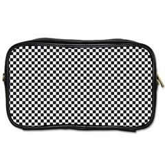 Sports Racing Chess Squares Black White Toiletries Bags