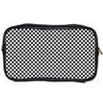 Sports Racing Chess Squares Black White Toiletries Bags 2-Side Front