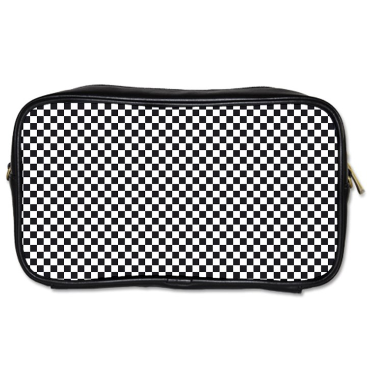 Sports Racing Chess Squares Black White Toiletries Bags 2-Side