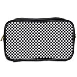 Sports Racing Chess Squares Black White Toiletries Bags 2-Side Back