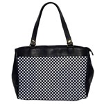 Sports Racing Chess Squares Black White Office Handbags Front