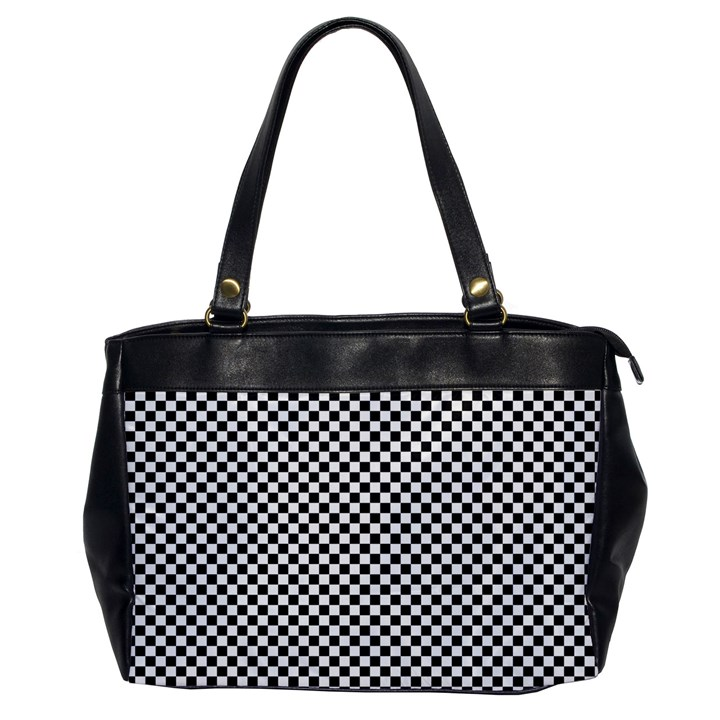 Sports Racing Chess Squares Black White Office Handbags