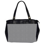 Sports Racing Chess Squares Black White Office Handbags (2 Sides)  Front