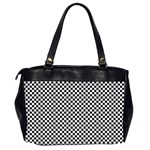 Sports Racing Chess Squares Black White Office Handbags (2 Sides)  Back