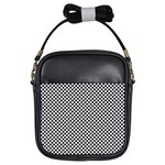Sports Racing Chess Squares Black White Girls Sling Bags Front