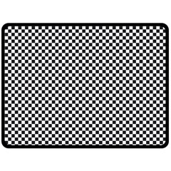 Sports Racing Chess Squares Black White Fleece Blanket (Large)