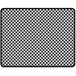 Sports Racing Chess Squares Black White Fleece Blanket (Medium)  60 x50 Blanket Front