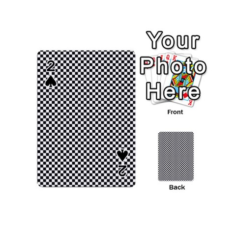 Sports Racing Chess Squares Black White Playing Cards 54 (Mini)