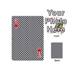 Sports Racing Chess Squares Black White Playing Cards 54 (Mini)  Front - Heart3