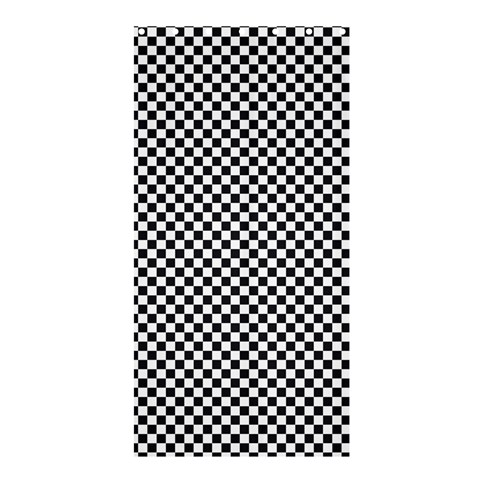 Sports Racing Chess Squares Black White Shower Curtain 36  x 72  (Stall)