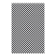 Sports Racing Chess Squares Black White Shower Curtain 48  X 72  (small)