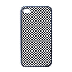 Sports Racing Chess Squares Black White Apple iPhone 4 Case (Black)