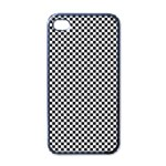 Sports Racing Chess Squares Black White Apple iPhone 4 Case (Black) Front