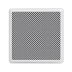 Sports Racing Chess Squares Black White Memory Card Reader (Square)  Front