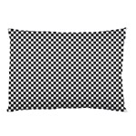 Sports Racing Chess Squares Black White Pillow Case (Two Sides) Back