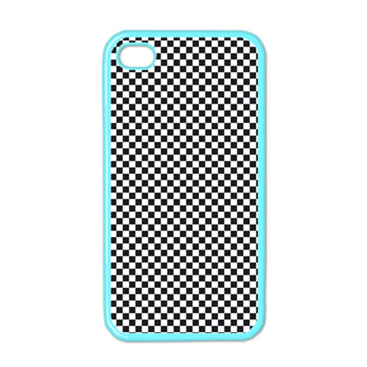 Sports Racing Chess Squares Black White Apple iPhone 4 Case (Color)