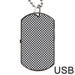 Sports Racing Chess Squares Black White Dog Tag USB Flash (One Side) Front
