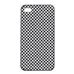 Sports Racing Chess Squares Black White Apple iPhone 4/4s Seamless Case (Black) Front