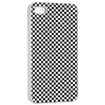 Sports Racing Chess Squares Black White Apple iPhone 4/4s Seamless Case (White) Front