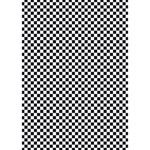 Sports Racing Chess Squares Black White You Rock 3D Greeting Card (7x5) Inside
