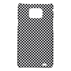 Sports Racing Chess Squares Black White Samsung Galaxy S2 i9100 Hardshell Case