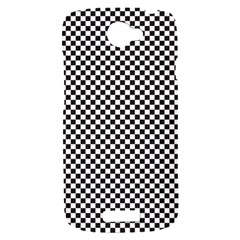 Sports Racing Chess Squares Black White HTC One S Hardshell Case