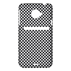 Sports Racing Chess Squares Black White HTC Evo 4G LTE Hardshell Case