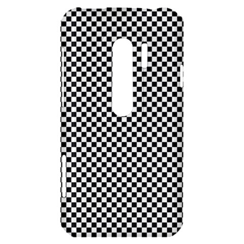 Sports Racing Chess Squares Black White HTC Evo 3D Hardshell Case