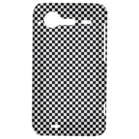 Sports Racing Chess Squares Black White HTC Incredible S Hardshell Case