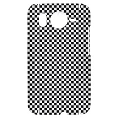 Sports Racing Chess Squares Black White HTC Desire HD Hardshell Case