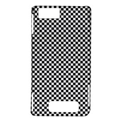 Sports Racing Chess Squares Black White Motorola DROID X2