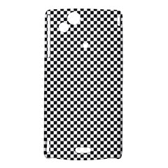 Sports Racing Chess Squares Black White Sony Xperia Arc