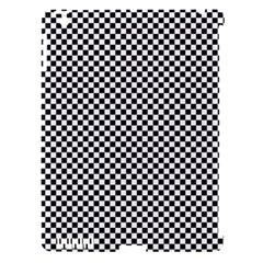 Sports Racing Chess Squares Black White Apple iPad 3/4 Hardshell Case (Compatible with Smart Cover)