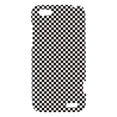 Sports Racing Chess Squares Black White HTC One V Hardshell Case